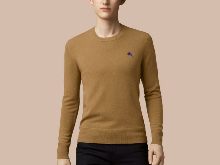 Heritage Detail Cashmere Sweater - Men | Burberry - cell image 1