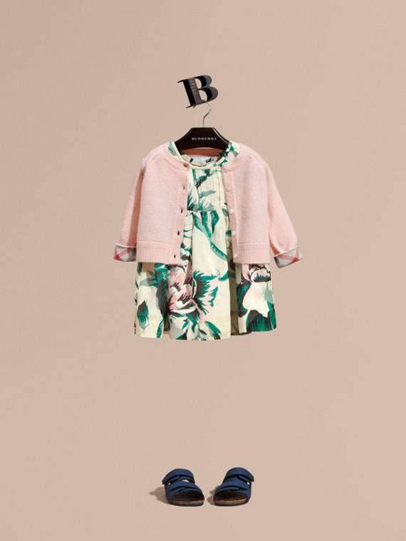 Textured Cashmere Cardigan Blossom