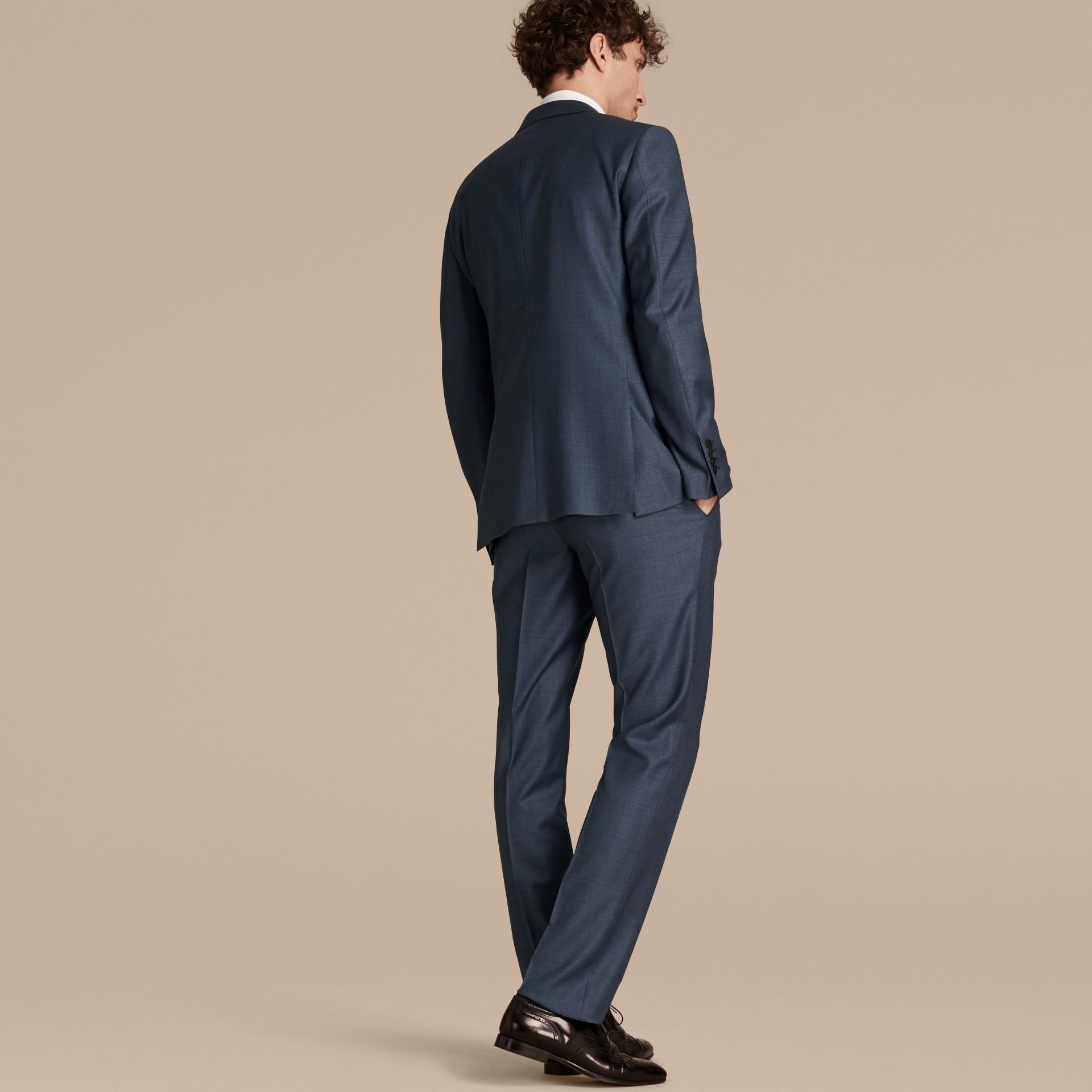 Bleu aérien Costume de coupe moderne en laine Travel Tailoring - photo de la galerie 2
