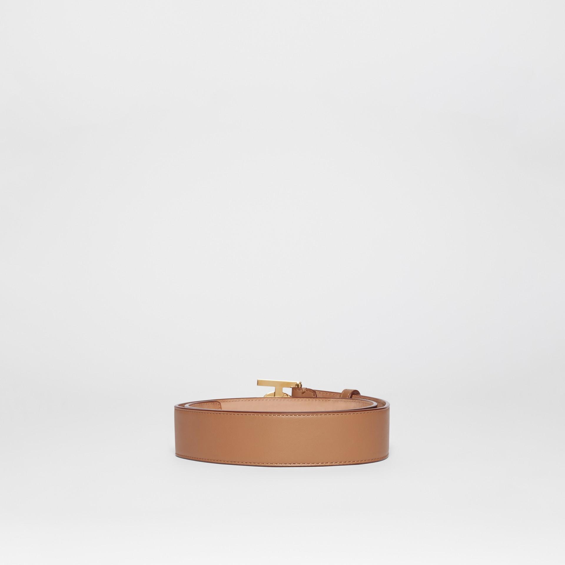 Ceinture en cuir Monogram (Camel Clair) - Femme | Burberry - photo de la galerie 3