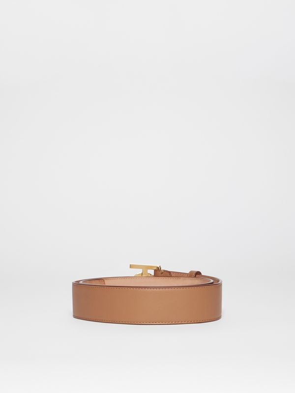 Monogram Motif Leather Belt in Light Camel - Women | Burberry - cell image 3