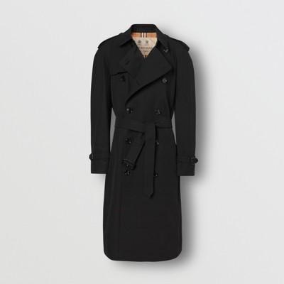 mens black plaid trench coat