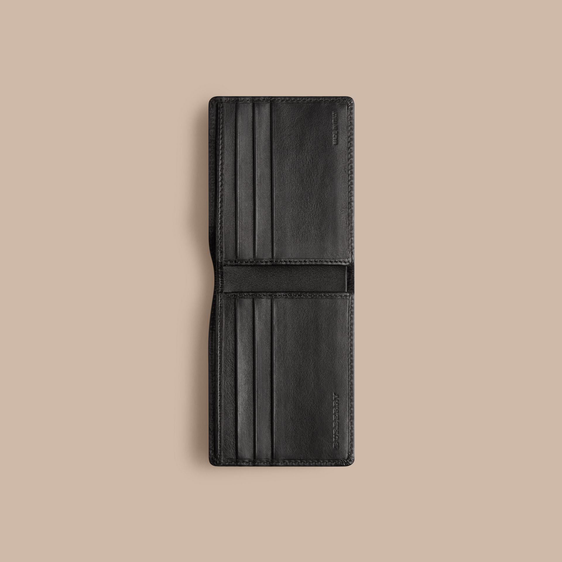 Horseferry Check Wallet Charcoal/black - gallery image 4
