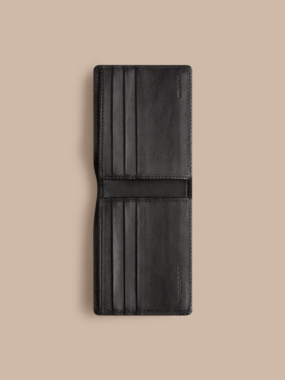 Horseferry Check Wallet in Charcoal/black - Men | Burberry - cell image 3