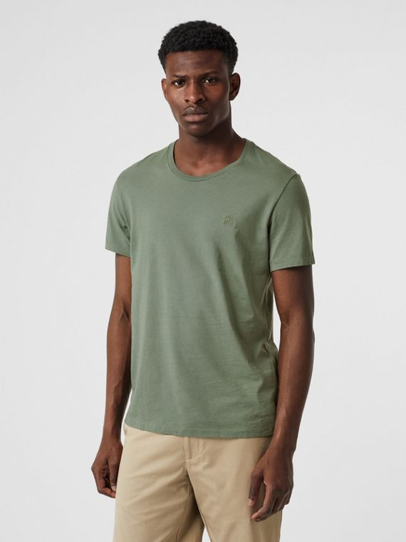 Cotton T-shirt in Clay Green