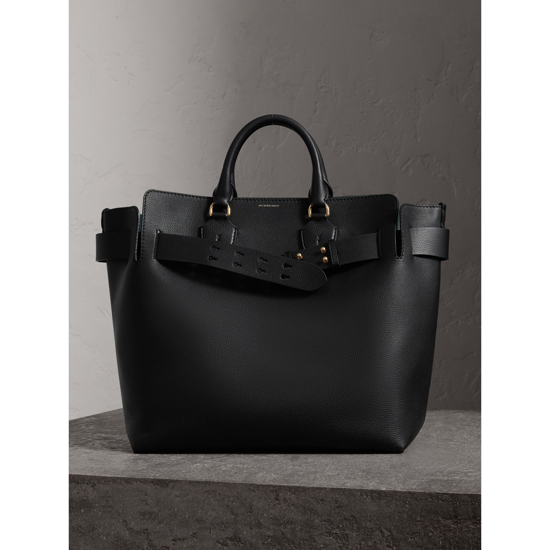 The Large Leather Belt Bag in Black | Burberry United States - gallery image 7