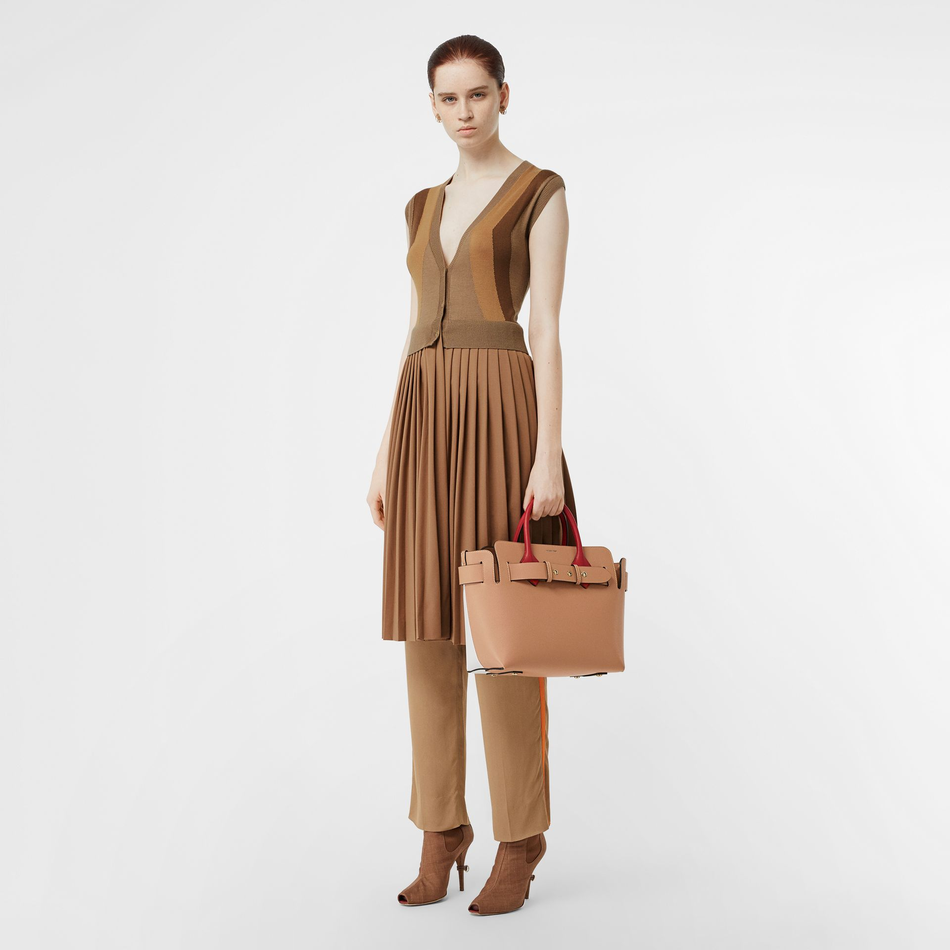 The Small Tri-tone Leather Triple Stud Belt Bag in Light Camel - Women | Burberry Canada - gallery image 5