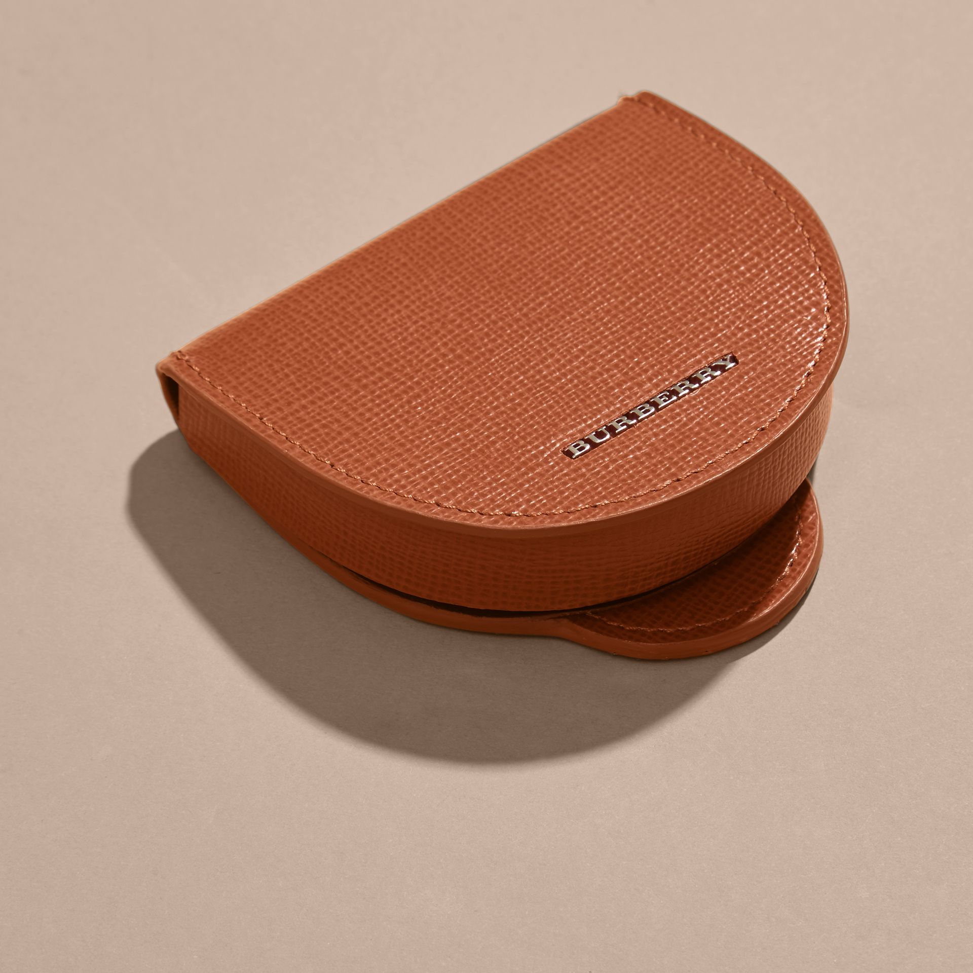 London Leather Coin Case in Burnt Sienna - gallery image 3