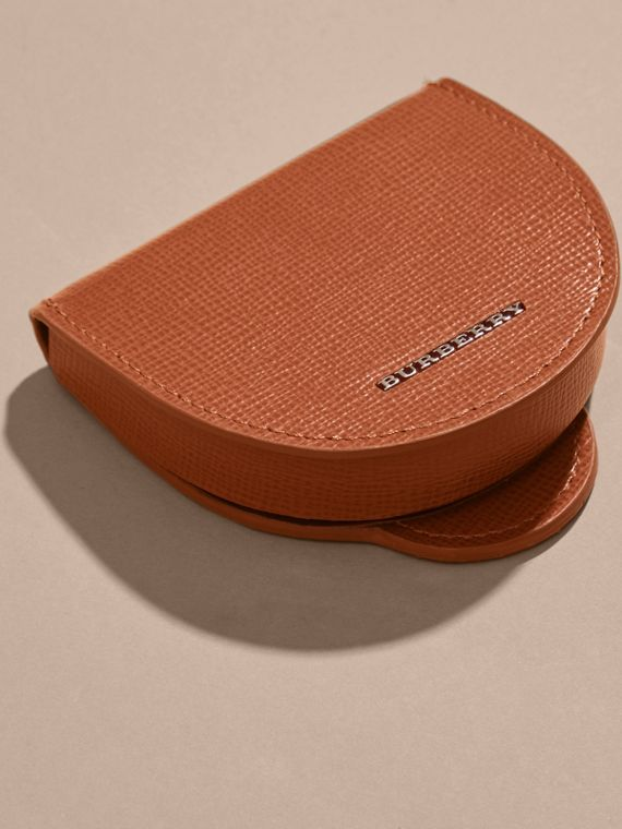 London Leather Coin Case in Burnt Sienna - cell image 2