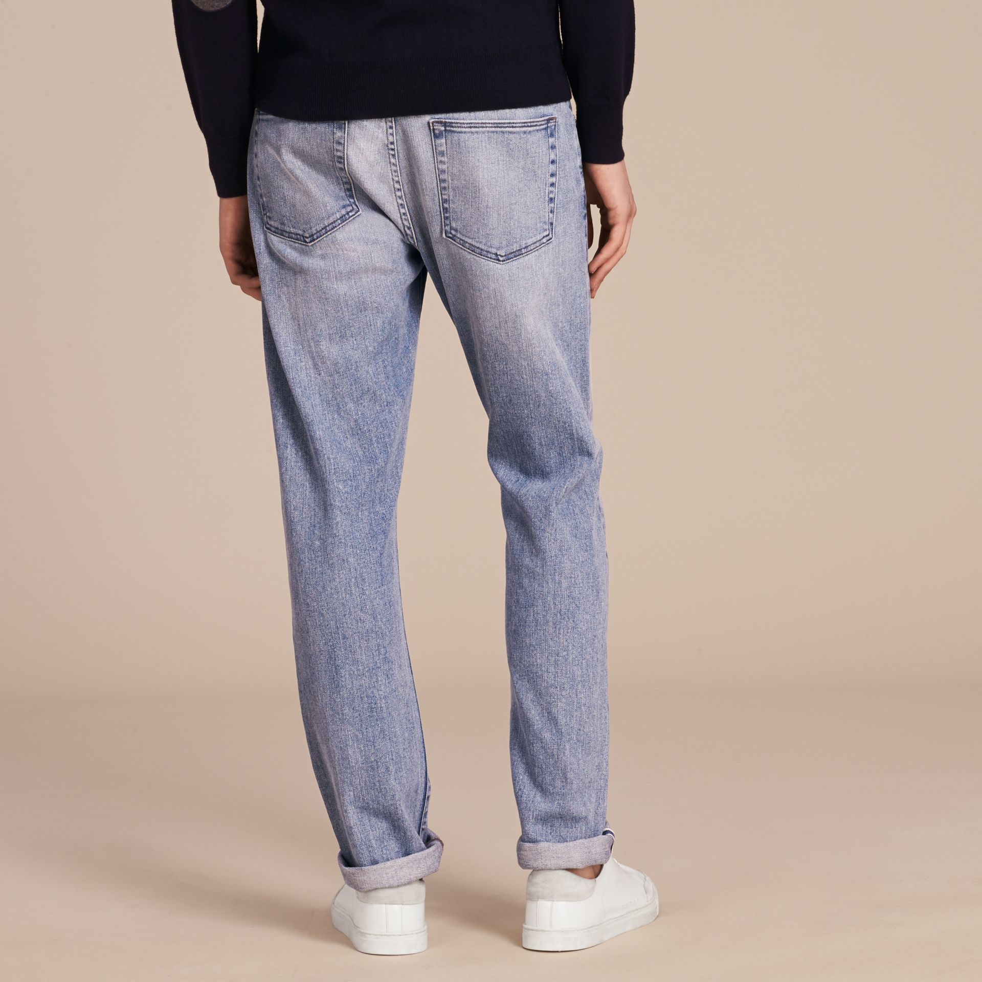 Straight Fit Japanese Light-wash Denim Jeans - gallery image 3