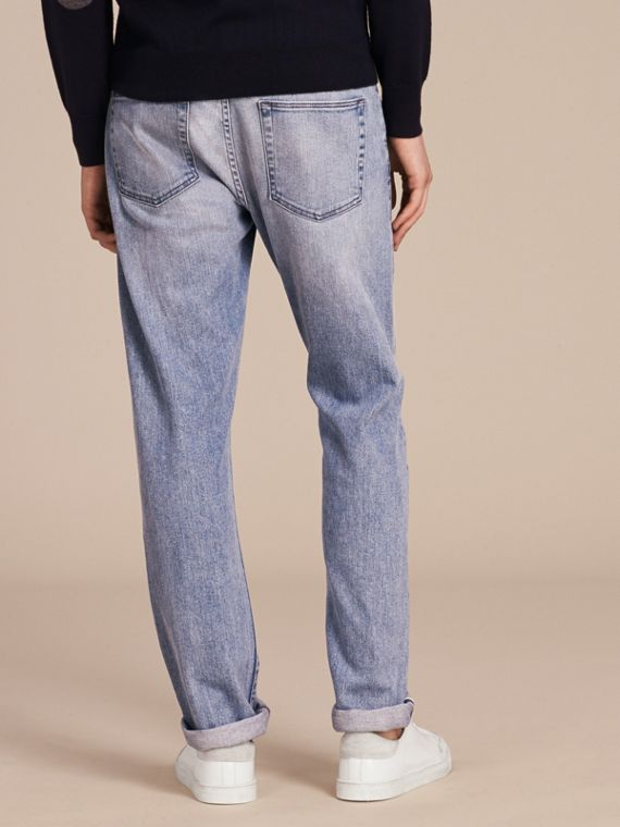 Straight Fit Japanese Light-wash Denim Jeans - cell image 2