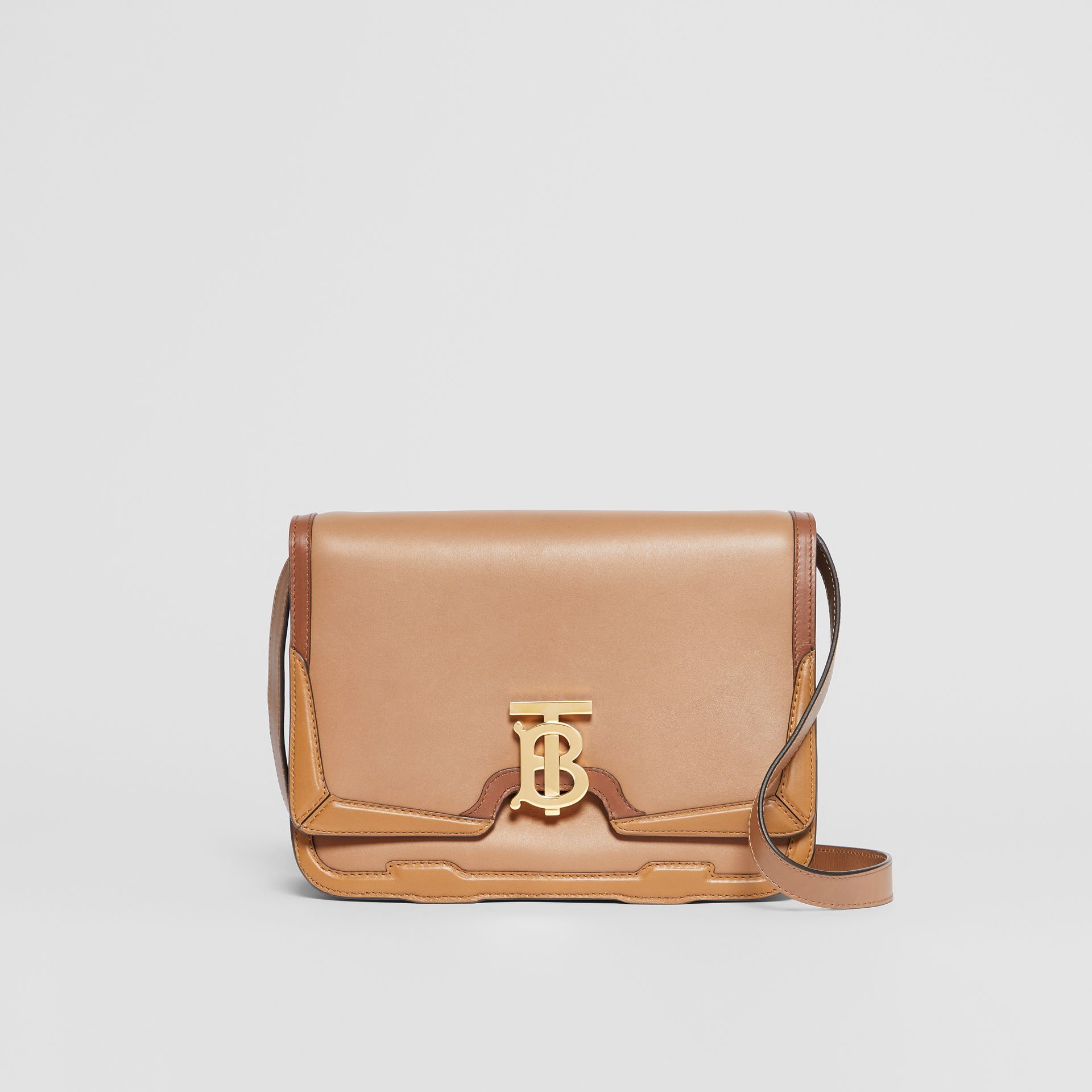 Medium Appliqué Leather TB Bag in Warm Camel - Women | Burberry - gallery image 0