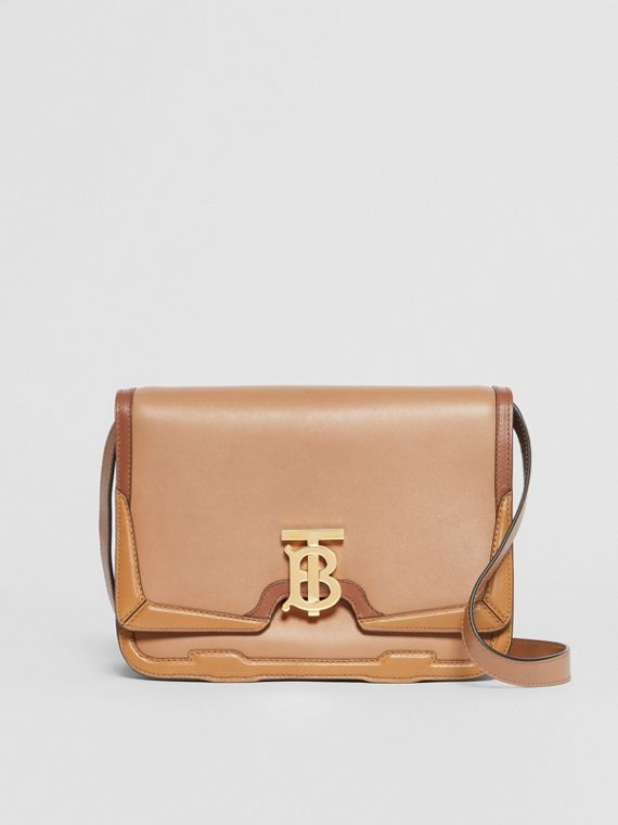 Medium Appliqué Leather TB Bag in Warm Camel