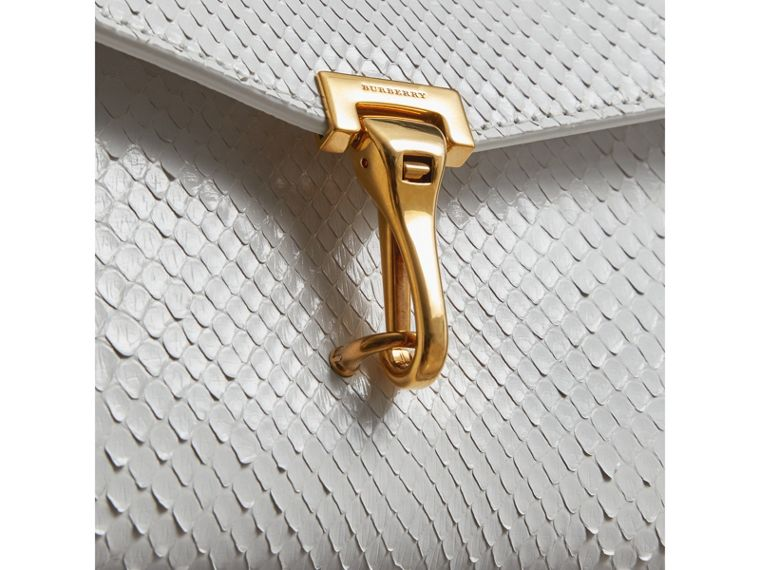 Small Python Crossbody Bag in Chalk White - Women | Burberry Australia - cell image 1