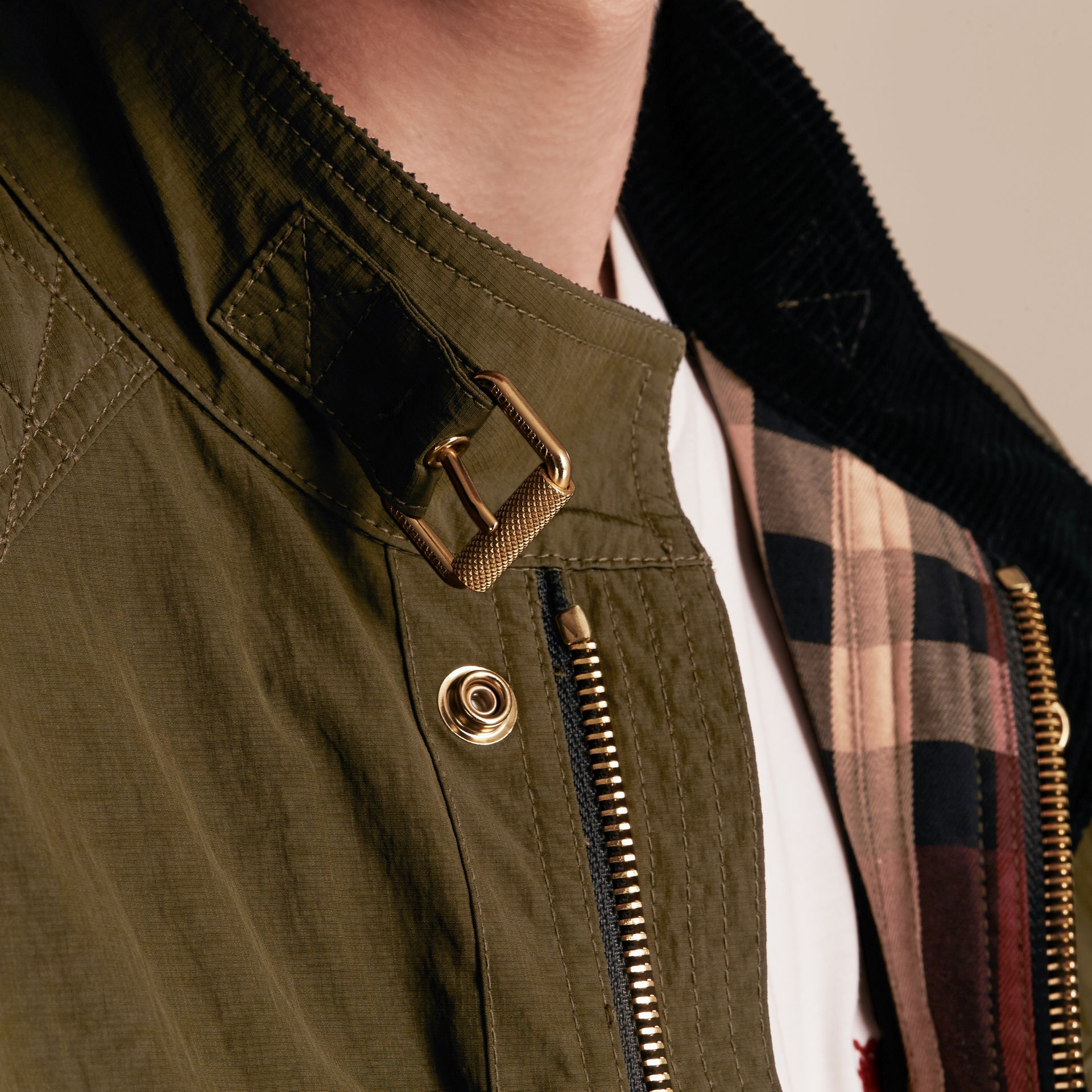 Diamond Quilt Detail Field Jacket - gallery image 6