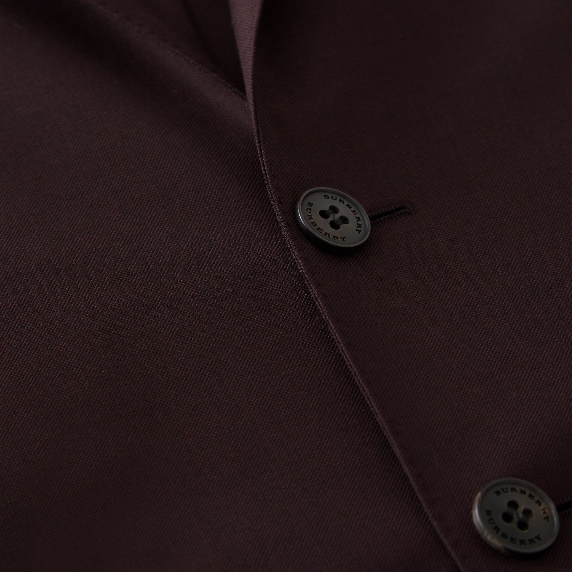 Slim Fit Wool Mohair Silk Suit in Burgundy - Men | Burberry - gallery image 9