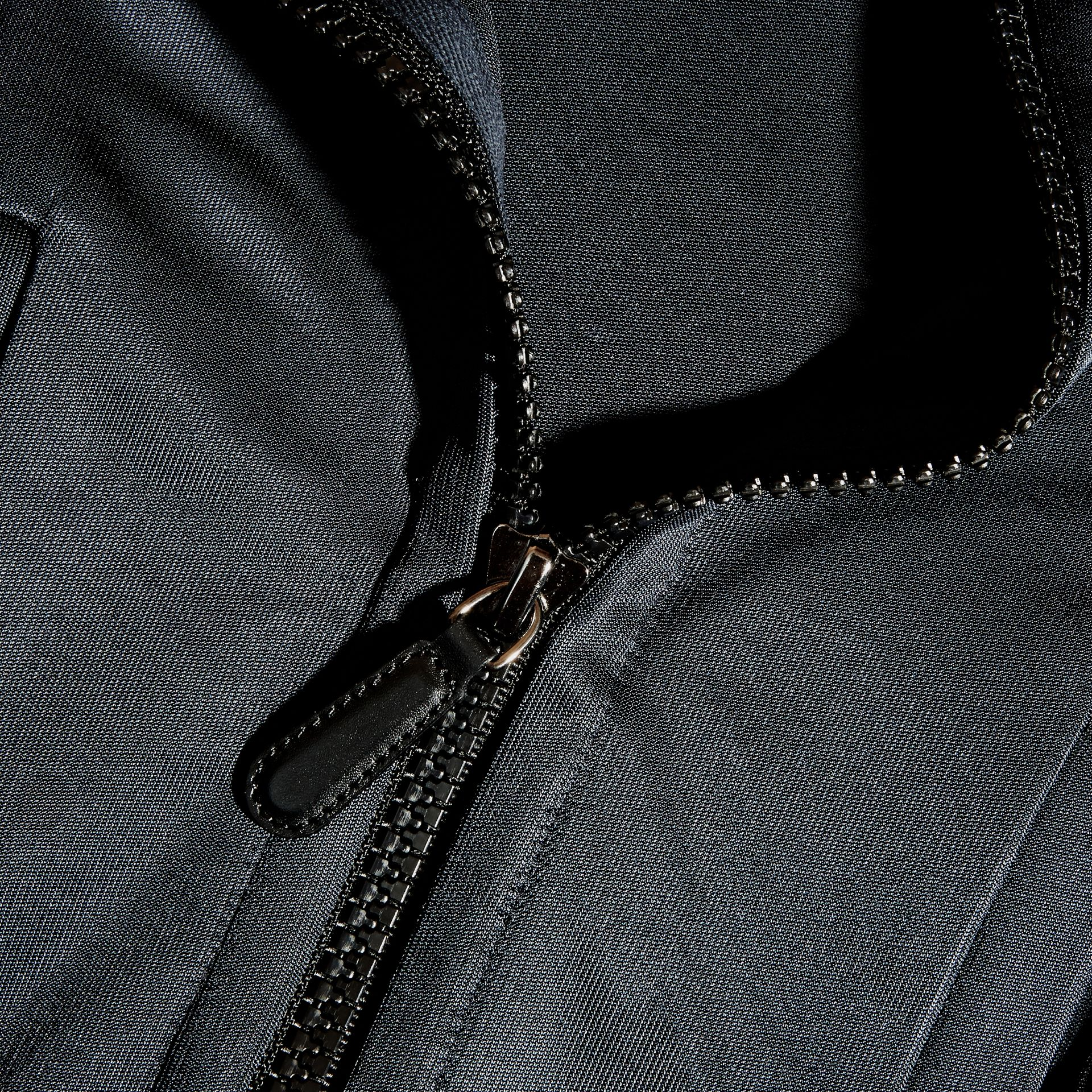 Navy High-shine Technical Track Jacket Navy - gallery image 2