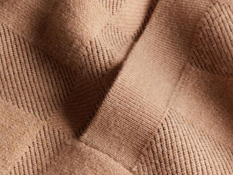 Mel Jaqueta de malha de lã e cashmere com estampa xadrez - cell image 1