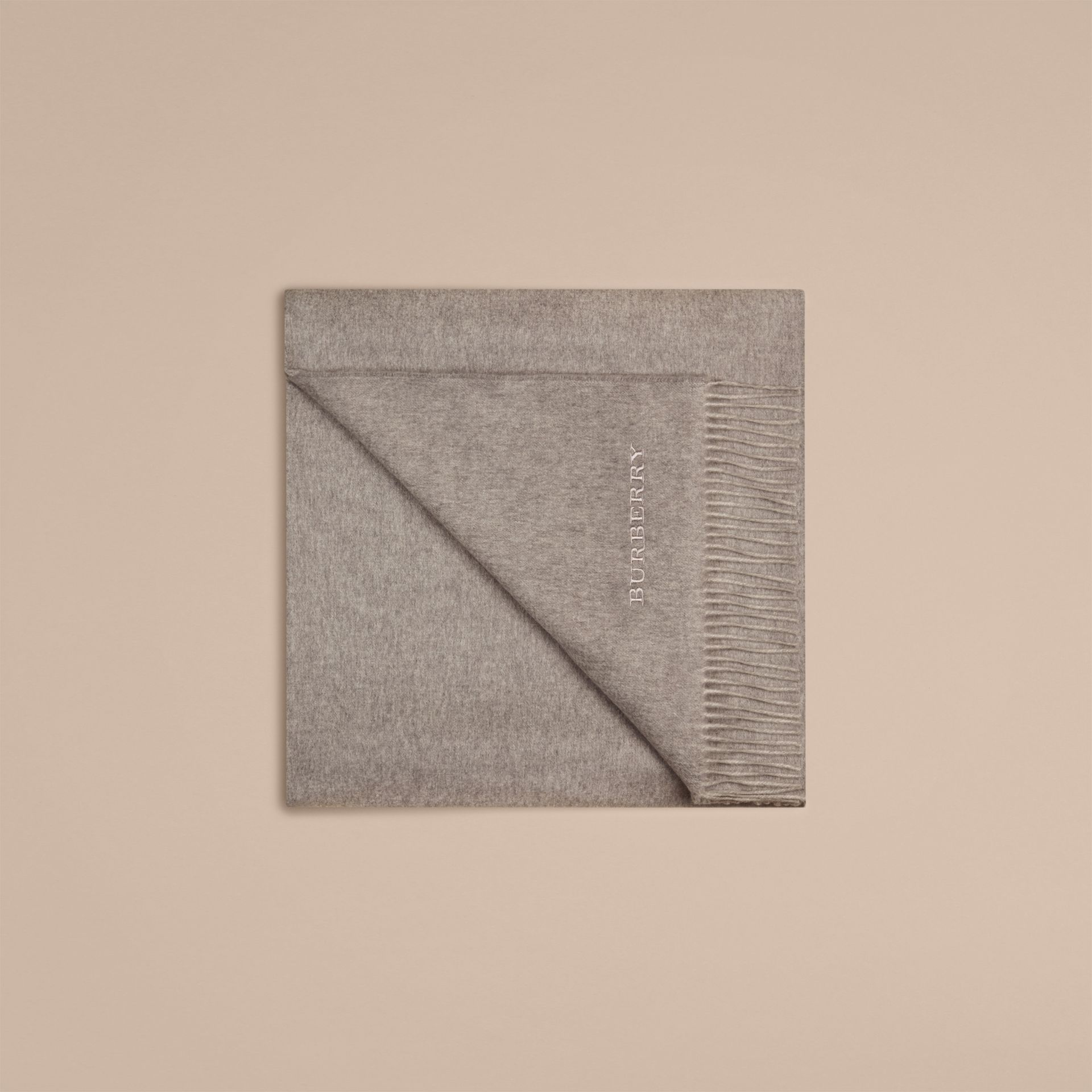 Cashmere Blanket in Pale Grey - gallery image 4