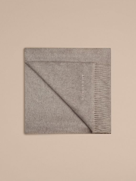 Cashmere Blanket in Pale Grey | Burberry United States - cell image 3