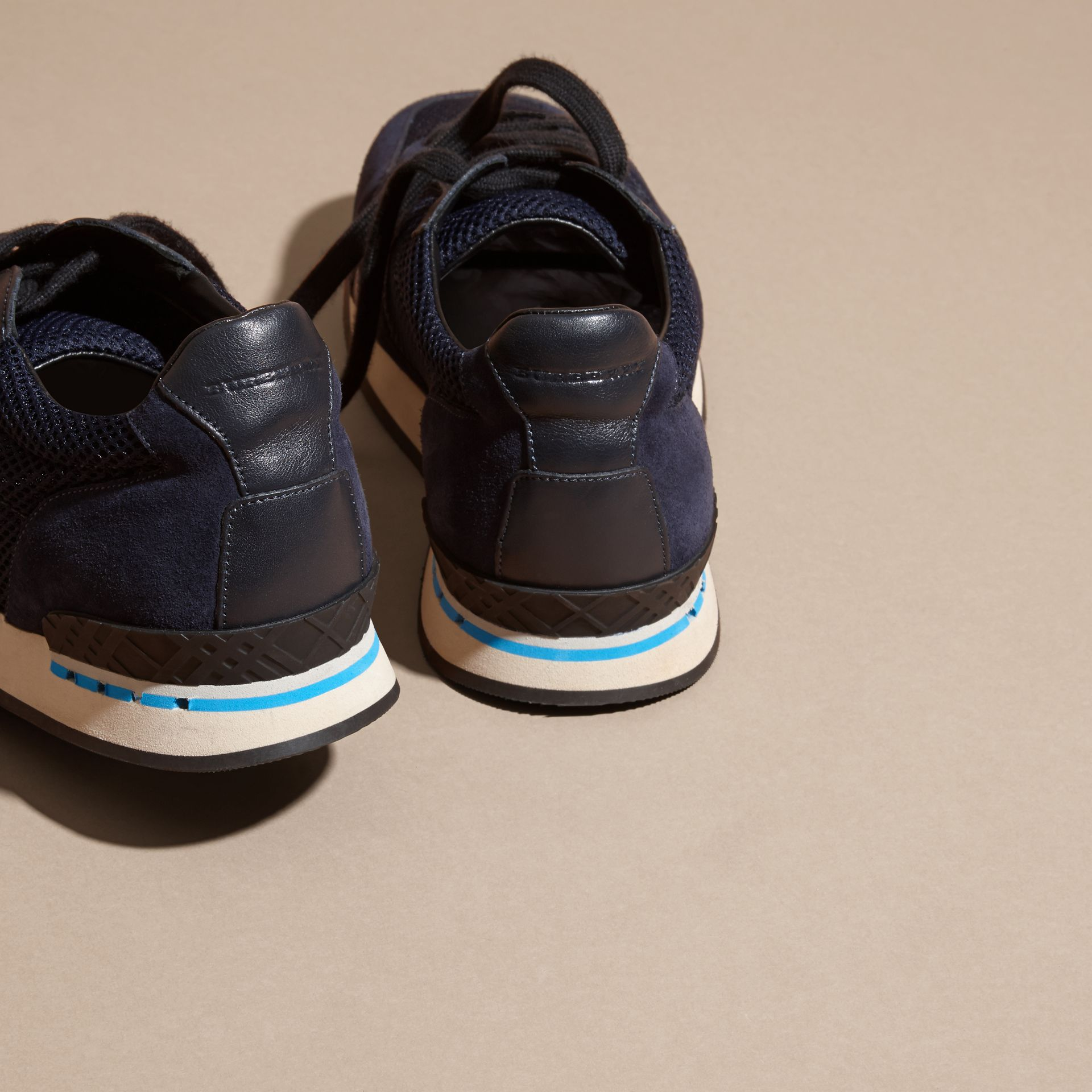 Navy The Field Sneaker in Suede and Mesh Navy - gallery image 4