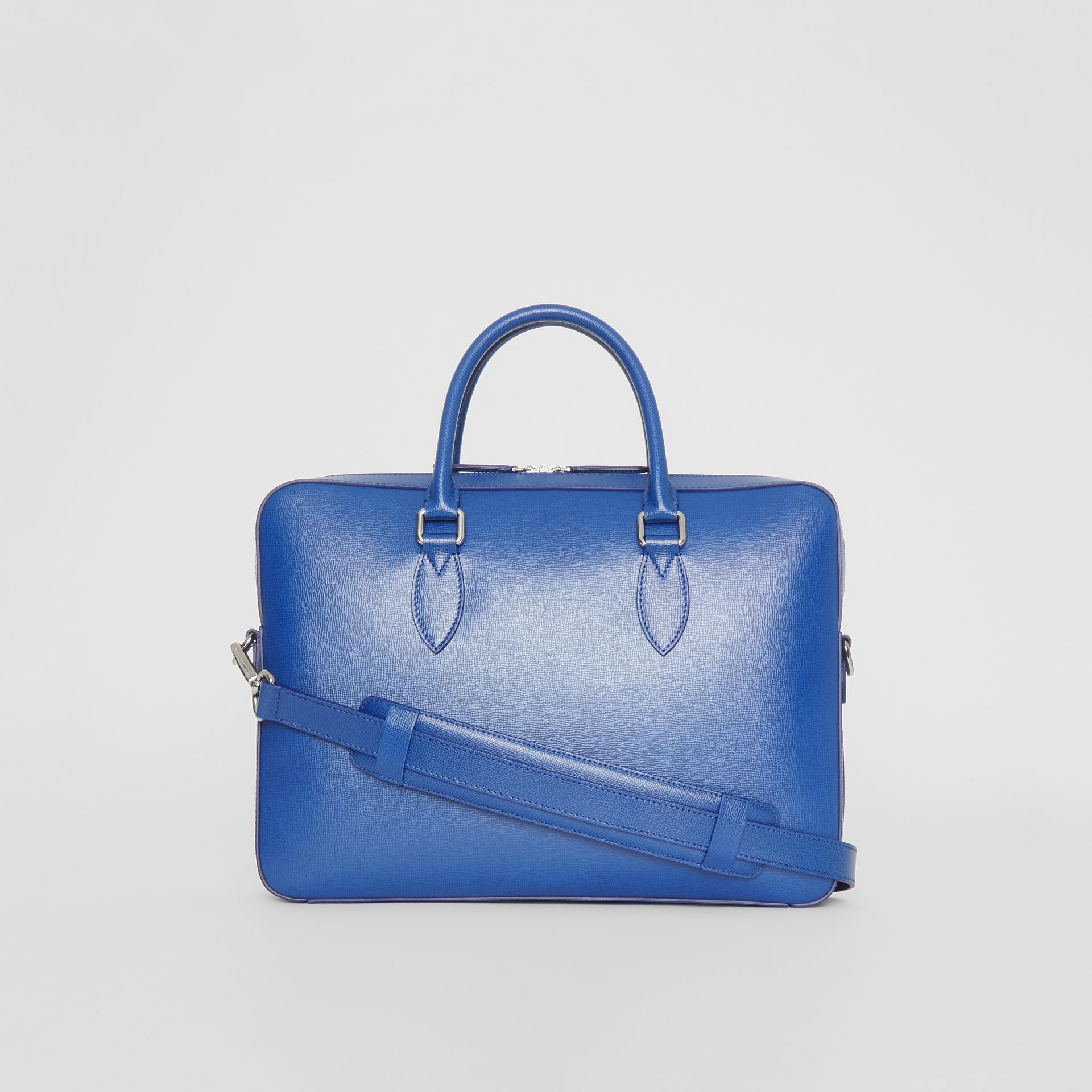 London Leather Briefcase in Deep Blue - Men | Burberry - gallery image 12