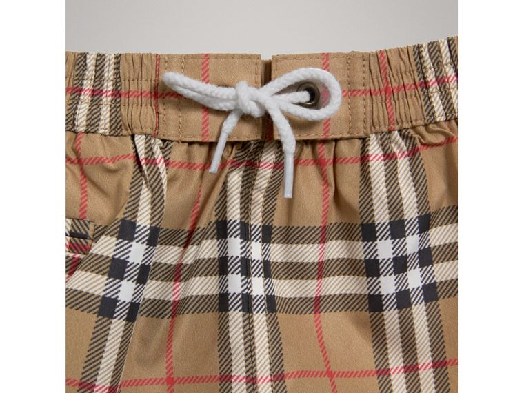 Check Swim Shorts in Camel | Burberry - cell image 4