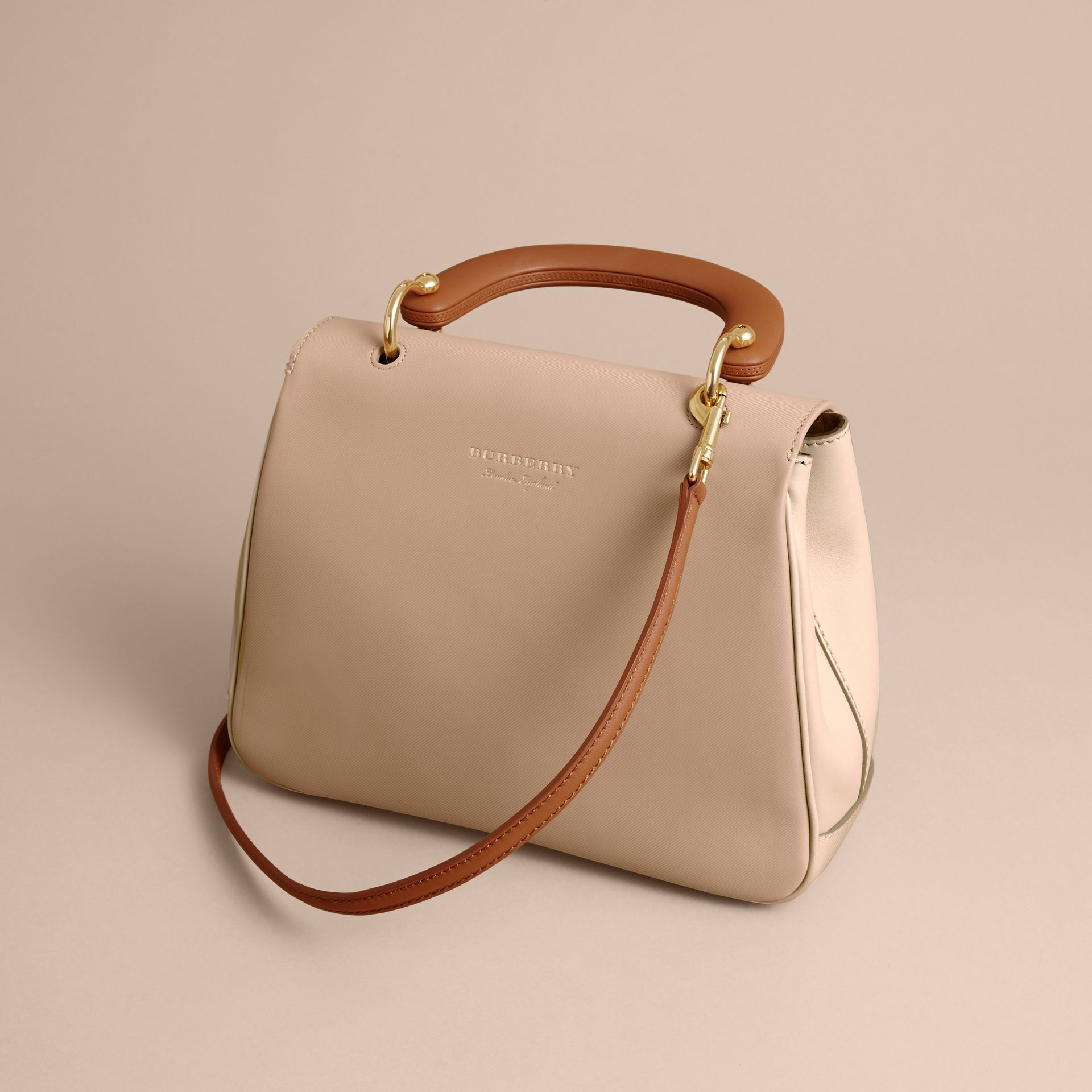 The Medium DK88 Top Handle Bag Limestone/honey - gallery image 5