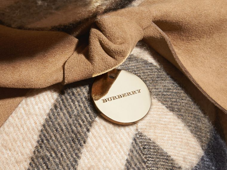 Large Thomas Bear in Check Cashmere in Camel | Burberry - cell image 1