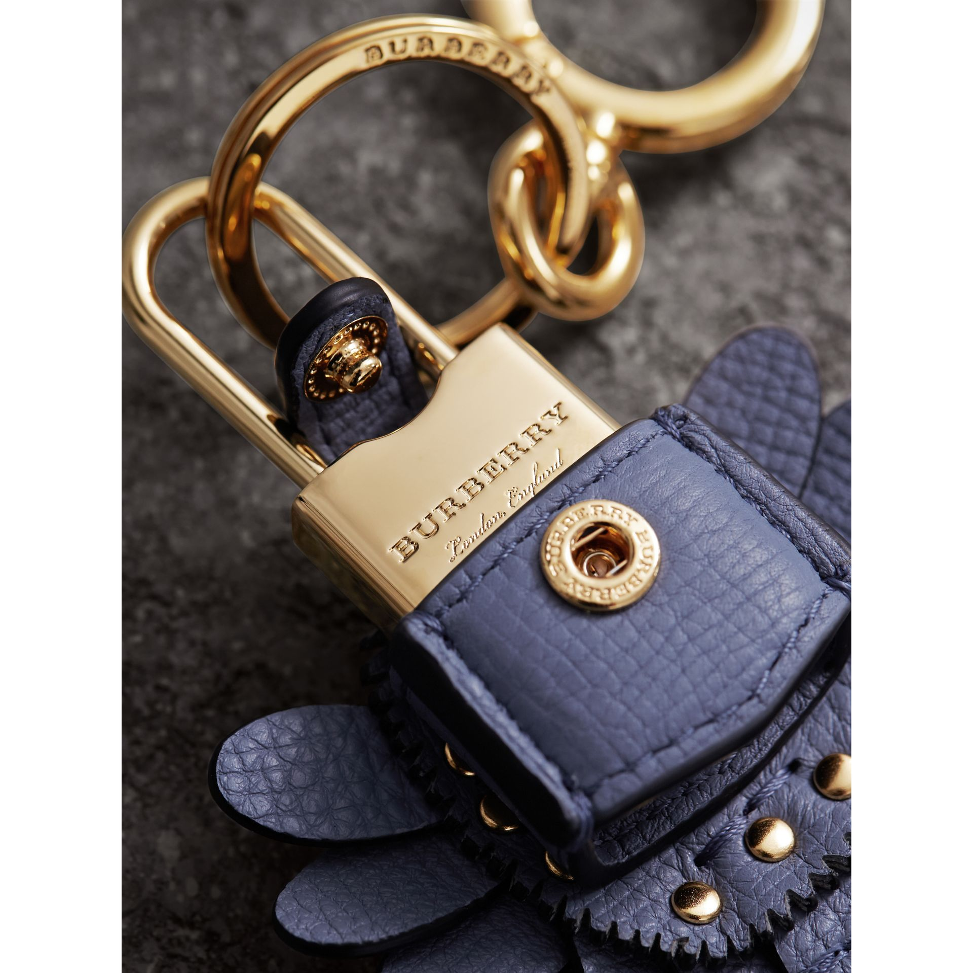 Beasts Leather Key Charm and Padlock in Pale Opal - Women | Burberry - gallery image 1