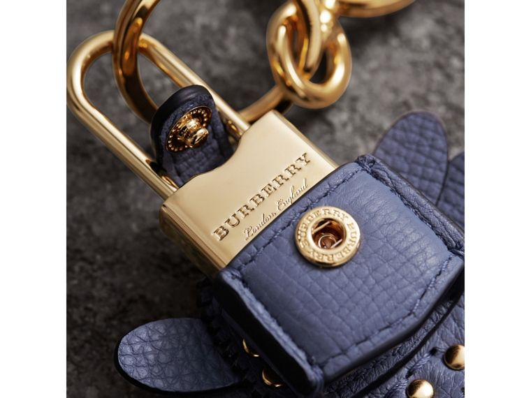 Beasts Leather Key Charm and Padlock in Pale Opal - Women | Burberry United Kingdom - cell image 1