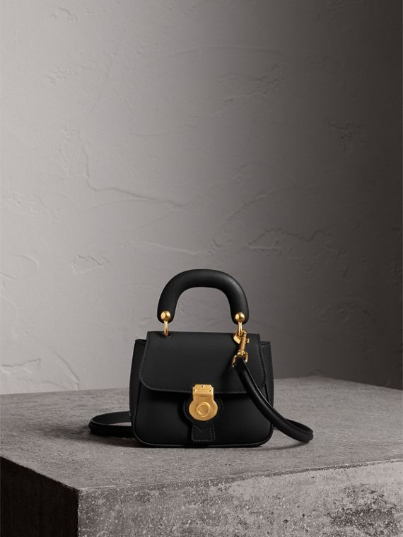 The Mini DK88 Top Handle Bag in Black - Women | Burberry
