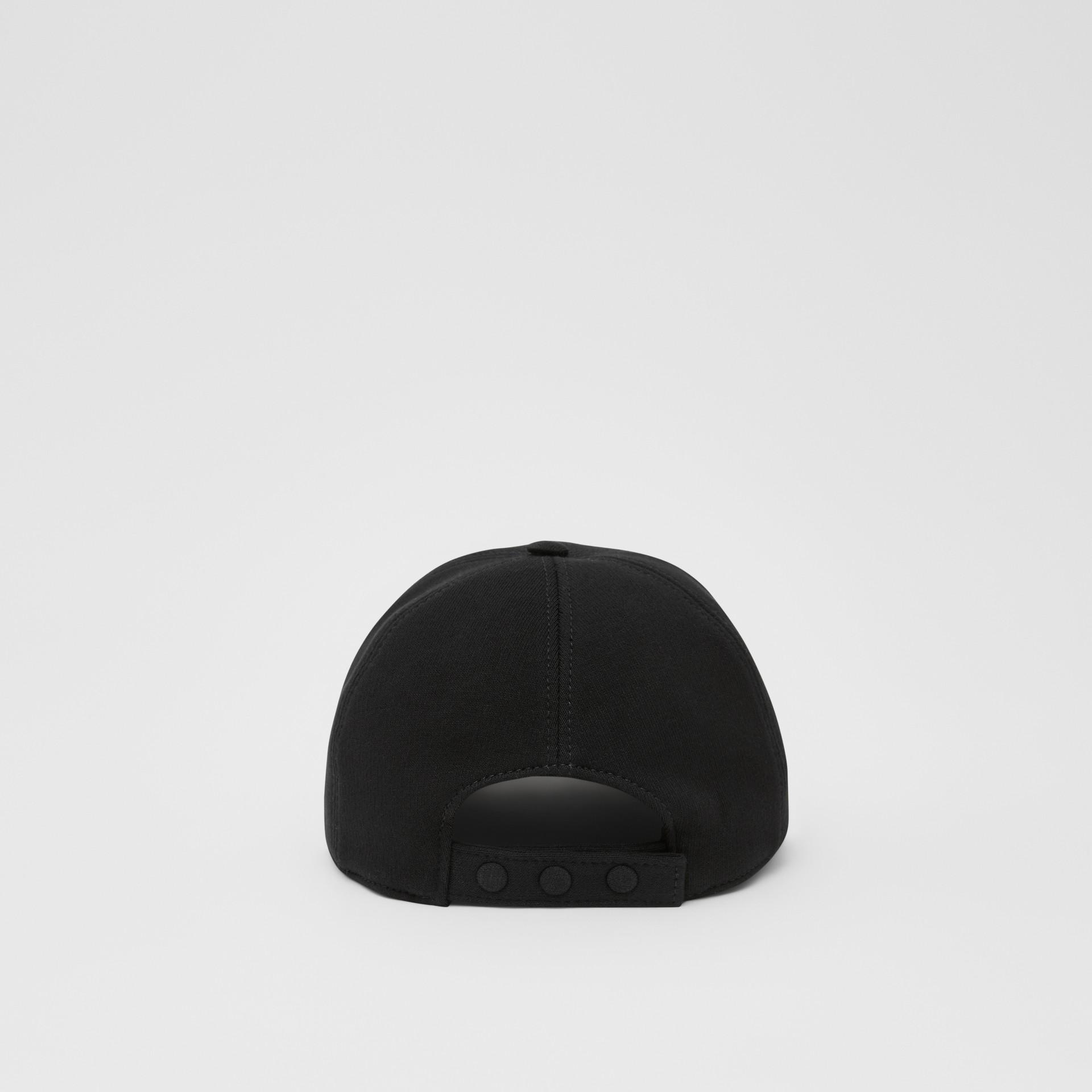 Monogram Motif Baseball Cap in Black | Burberry - gallery image 6