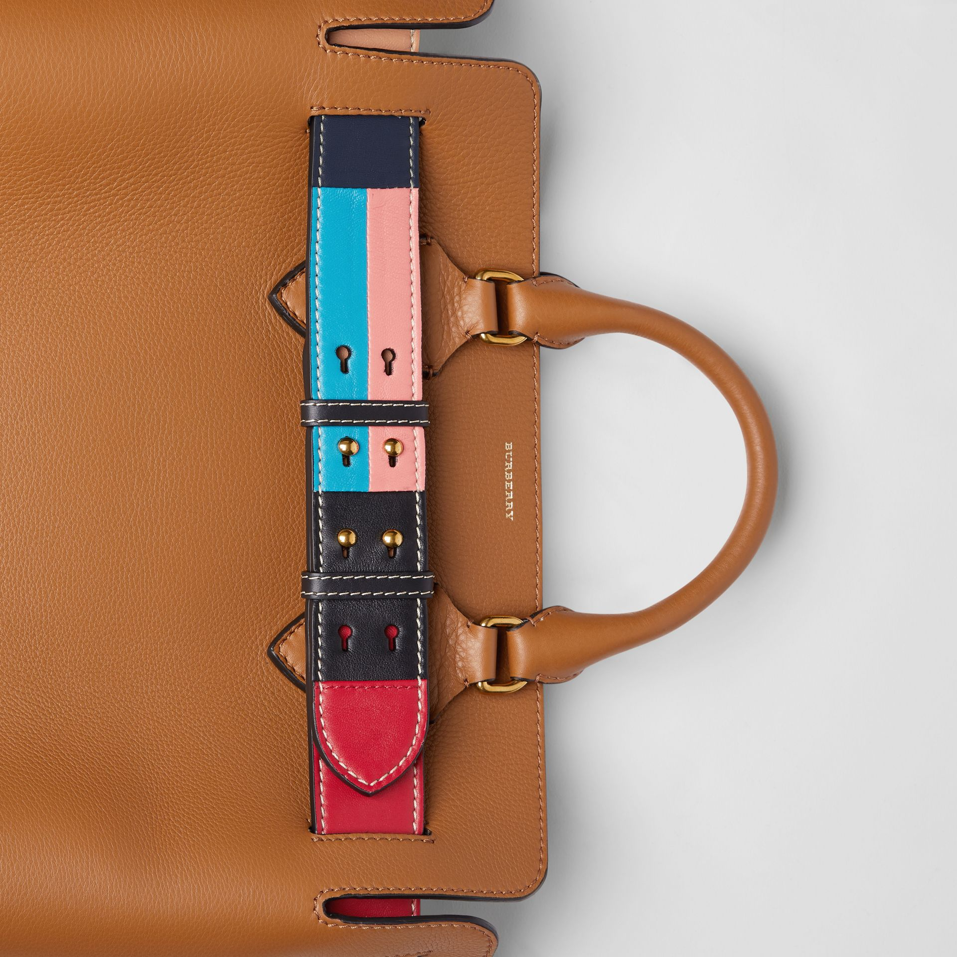 The Medium Leather Colour Block Detail Belt Bag in Cognac - Women | Burberry United States - gallery image 1