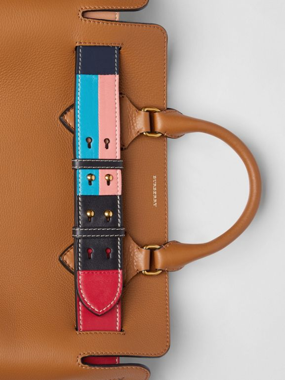 The Medium Leather Colour Block Detail Belt Bag in Cognac - Women | Burberry - cell image 1