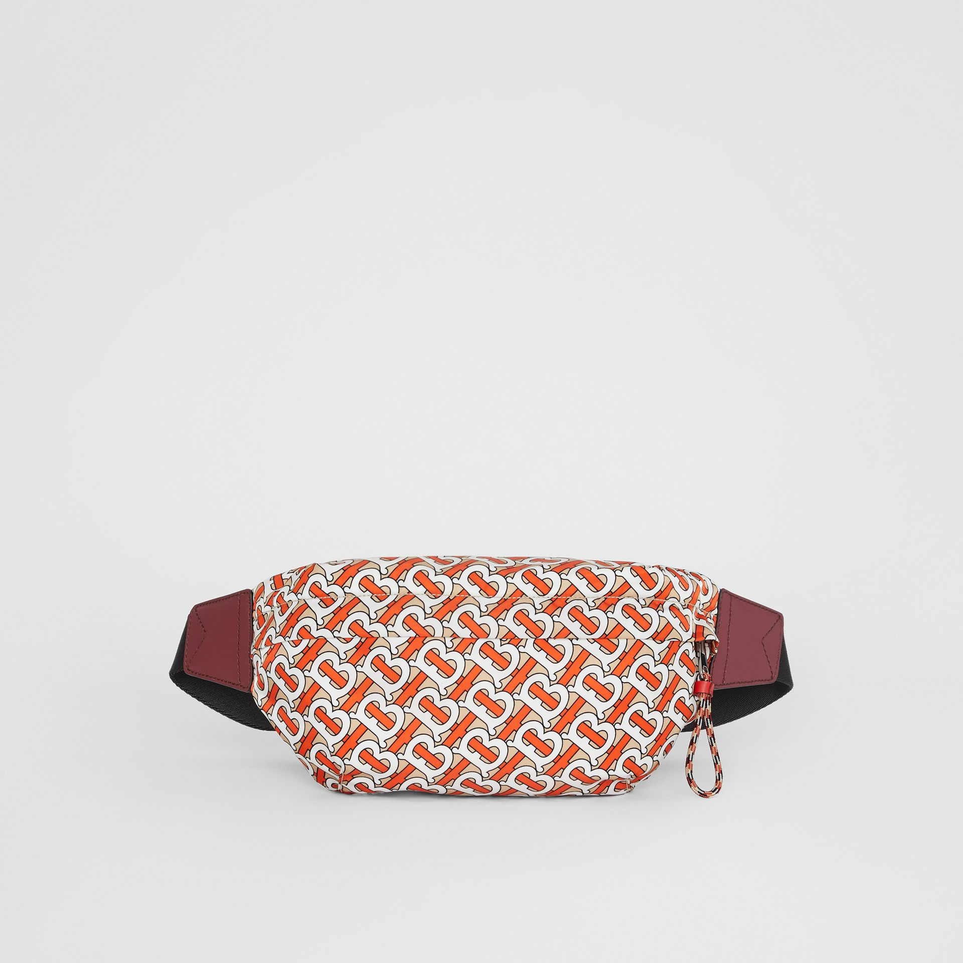 Medium Monogram Print Bum Bag in Vermilion | Burberry - gallery image 0