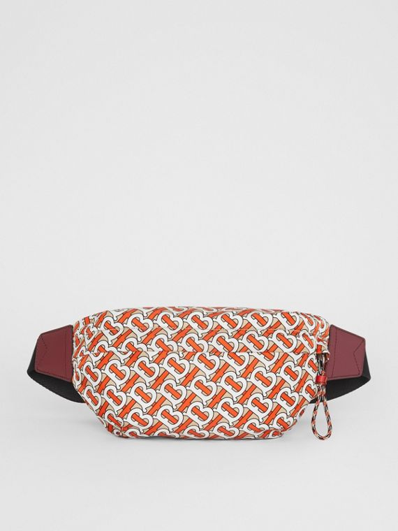 Medium Monogram Print Bum Bag in Vermilion