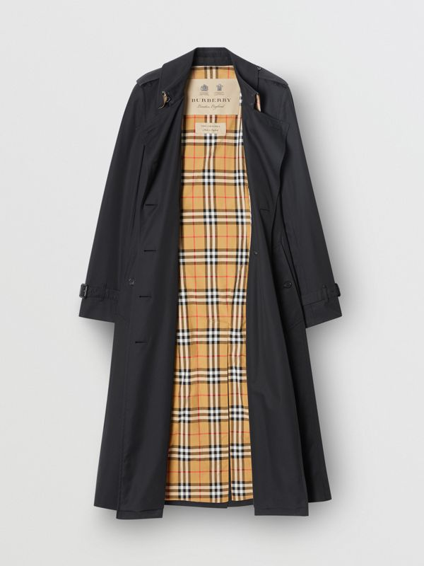 The Long Chelsea Heritage Trench Coat in Midnight - Women | Burberry United States - cell image 3
