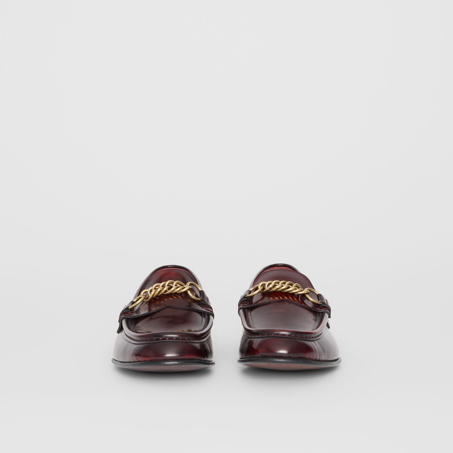The Leather Link Loafer in Bordeaux - Men | Burberry - gallery image 3