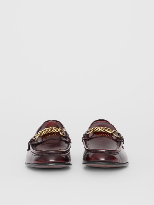 The Leather Link Loafer in Bordeaux - Men | Burberry - cell image 3