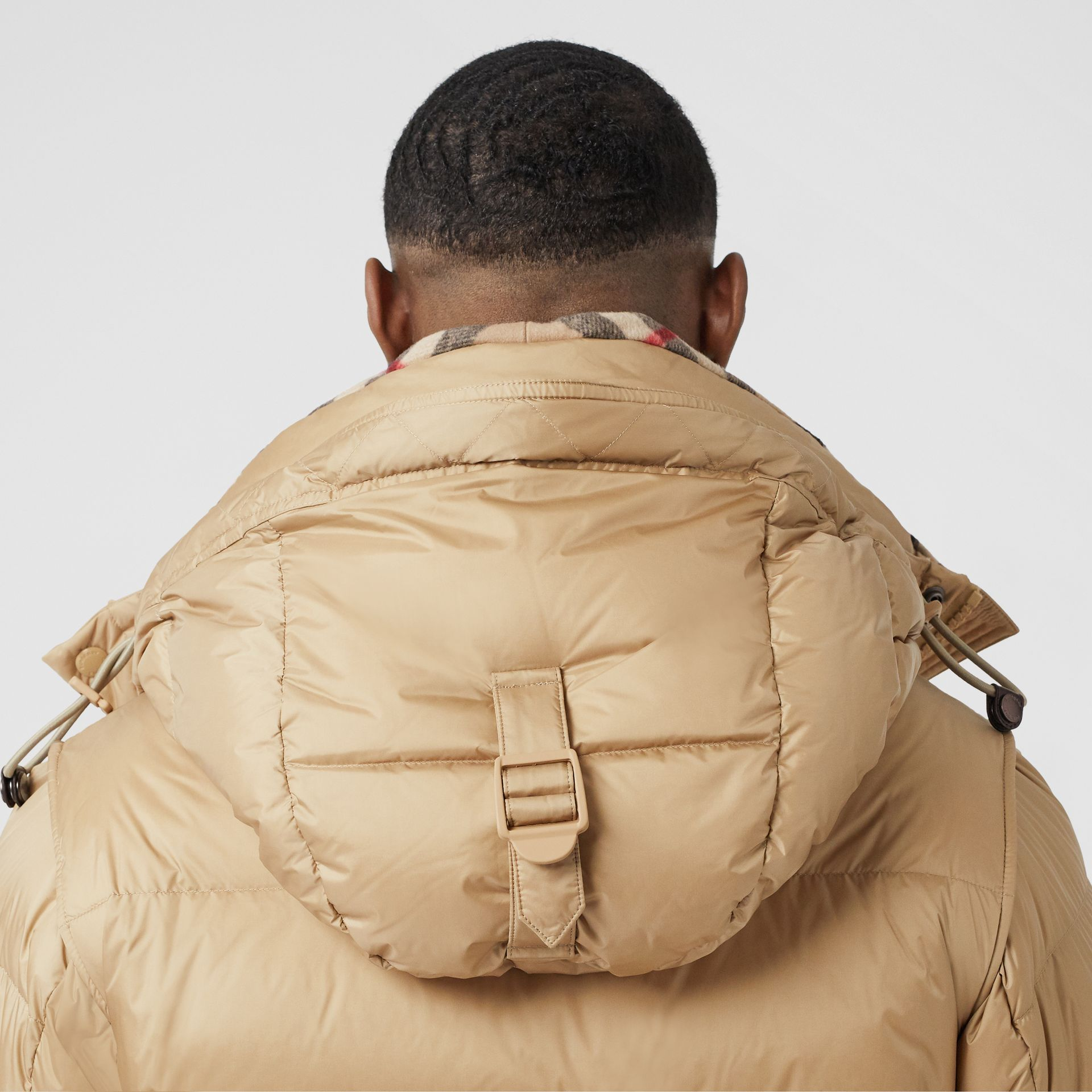 Detachable Sleeve Hooded Puffer Jacket in Honey - Men | Burberry United States - gallery image 4