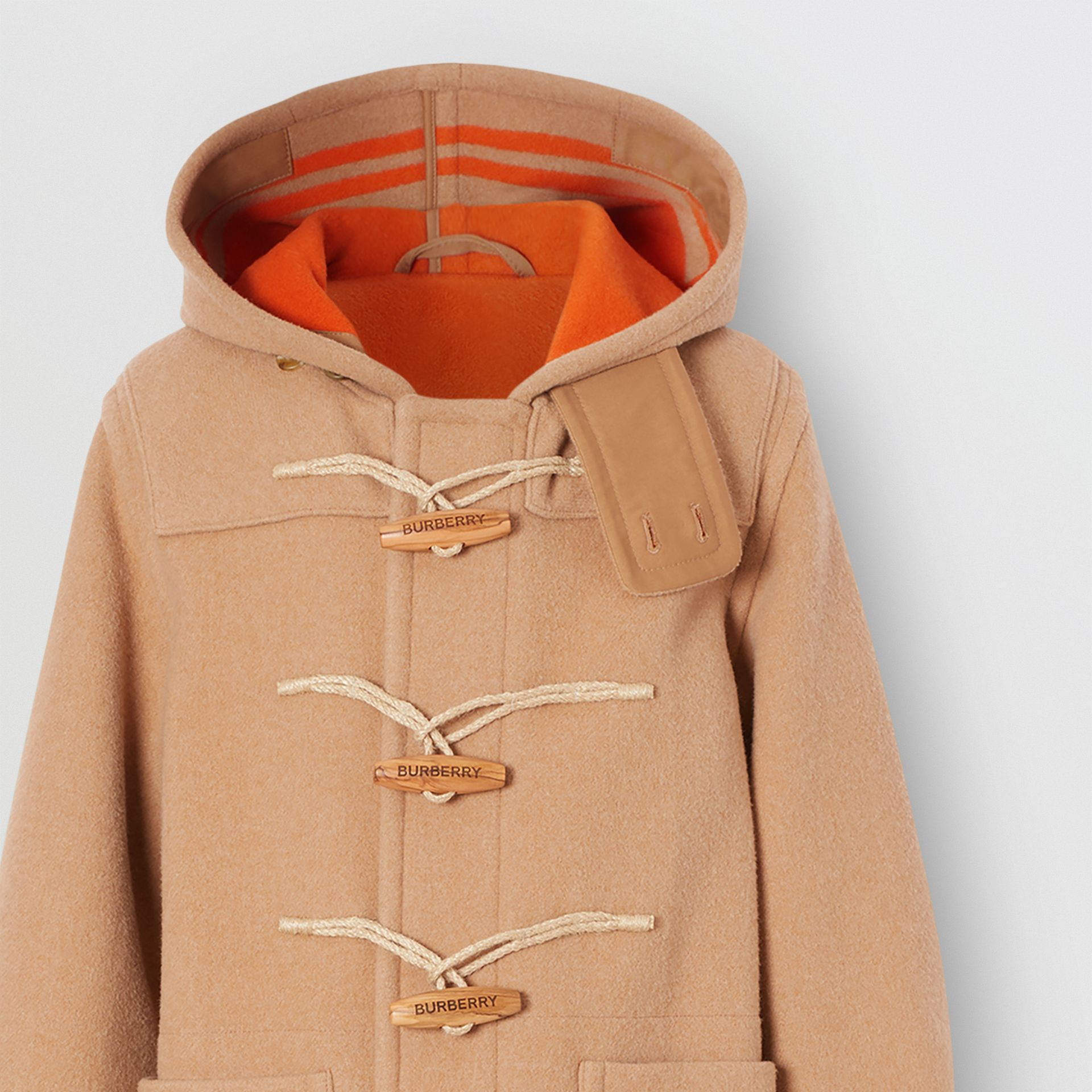 Striped Double-faced Wool Duffle Coat in Camel/orange - Men | Burberry United Kingdom - gallery image 2