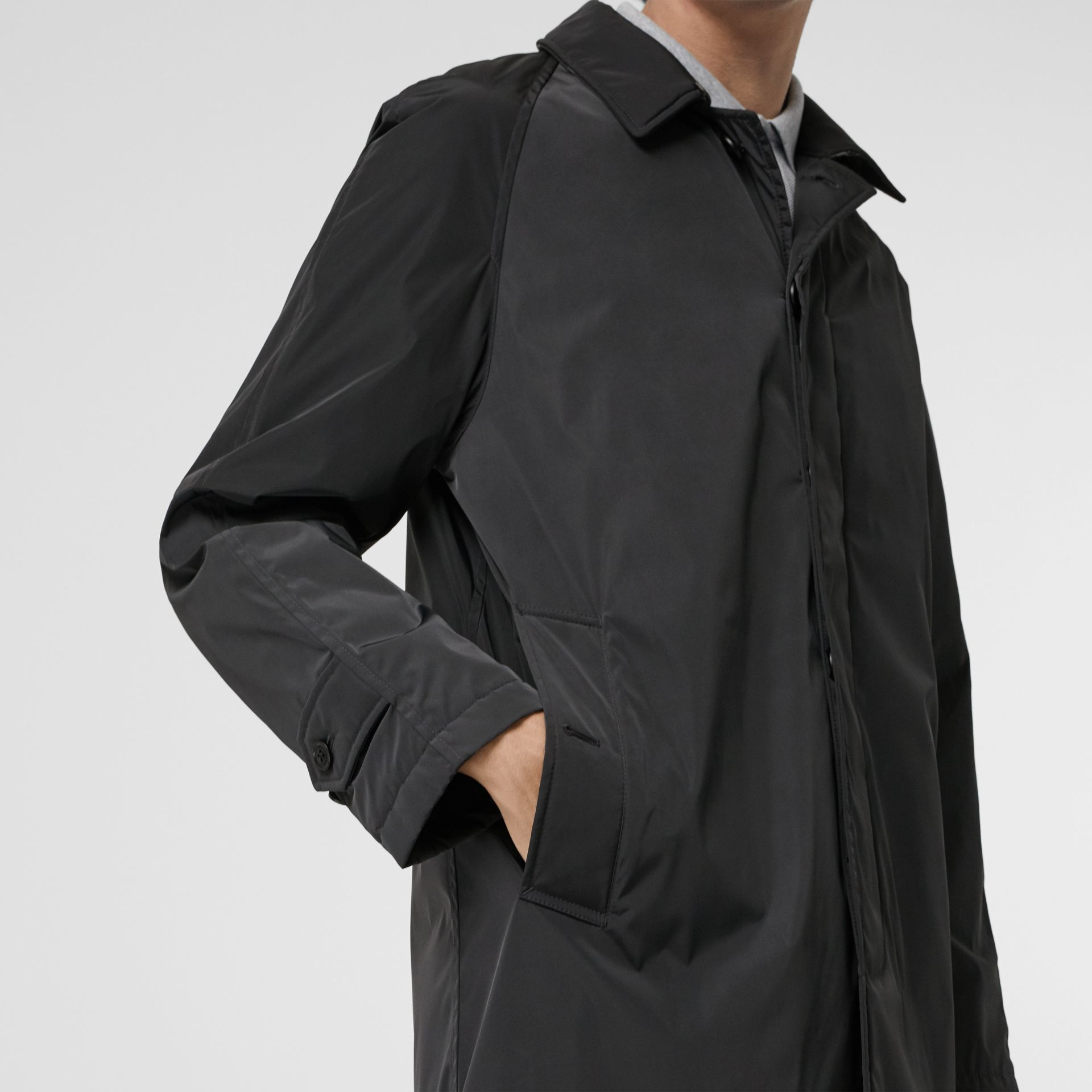 Quilt-lined Nylon Car Coat in Dark Charcoal - Men | Burberry Singapore - gallery image 4