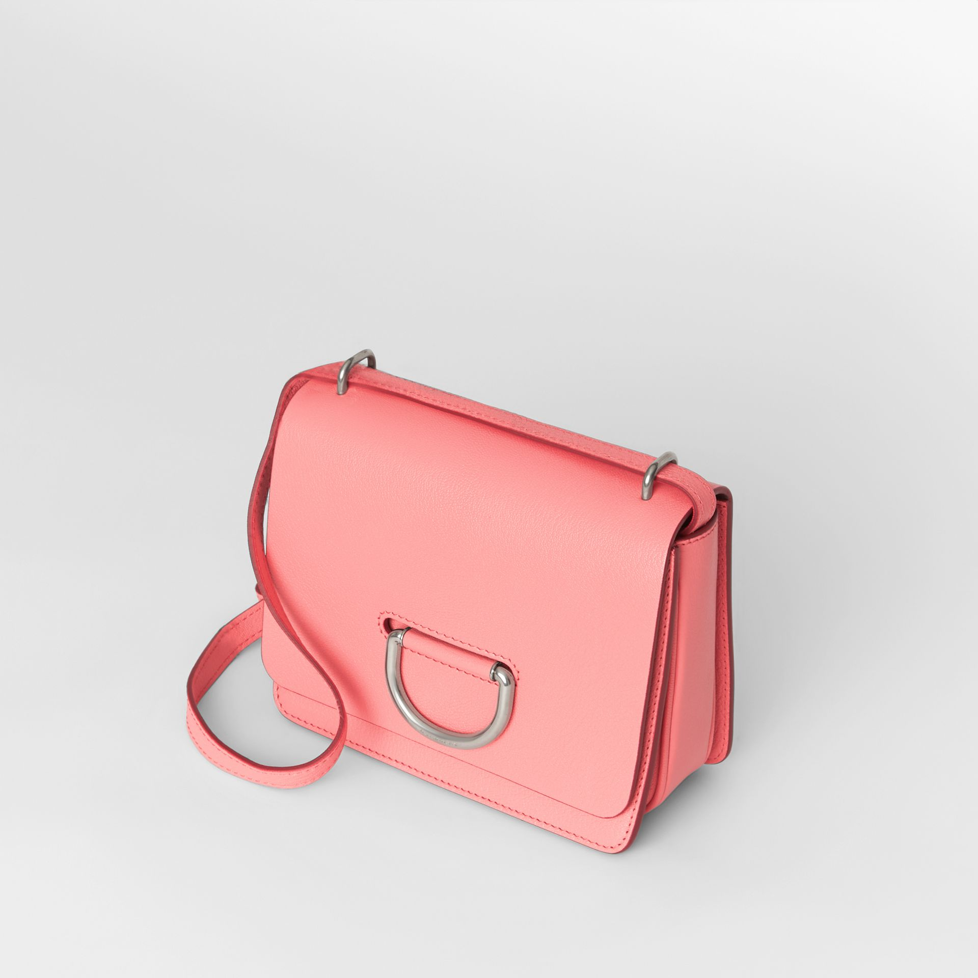 The Small Leather D-ring Bag in Bright Coral Pink - Women | Burberry - gallery image 4