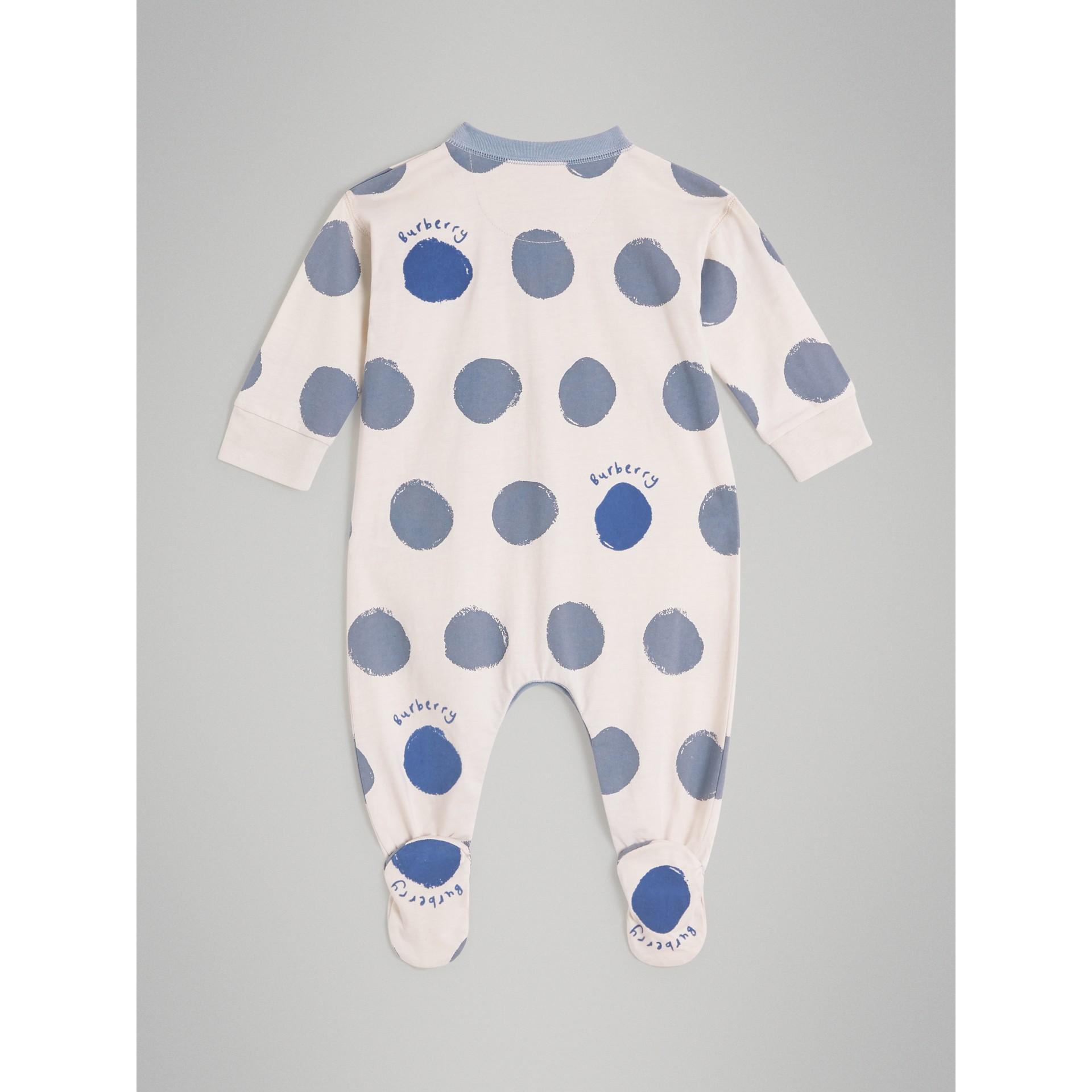 Coffret cadeau deux pièces pour bébé en jersey de coton à imprimé à pois graphique (Bleu Toile) - Enfant | Burberry Canada - photo de la galerie 3