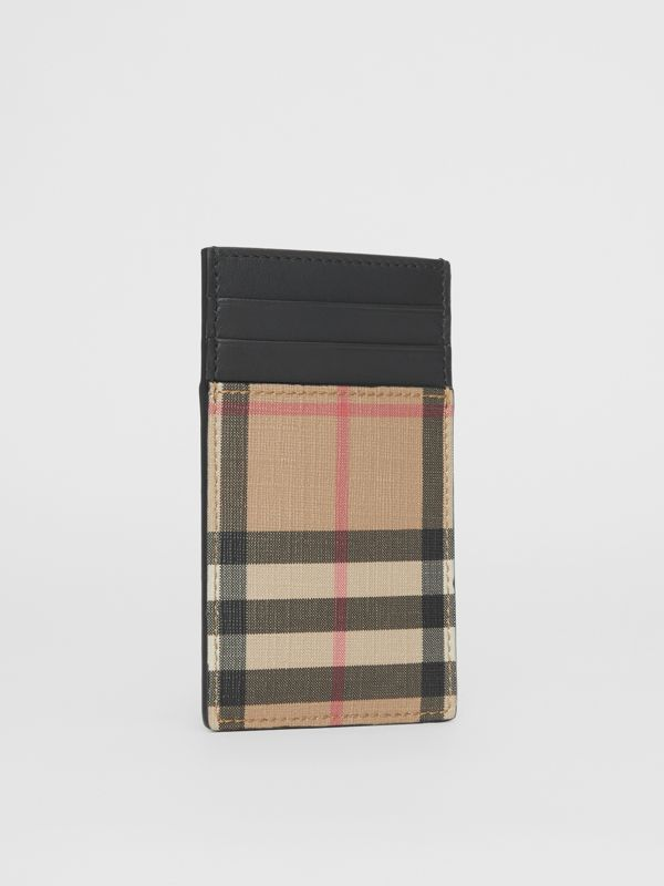 Vintage Check E-canvas and Leather Card Case in Archive Beige - Men | Burberry Singapore - cell image 2