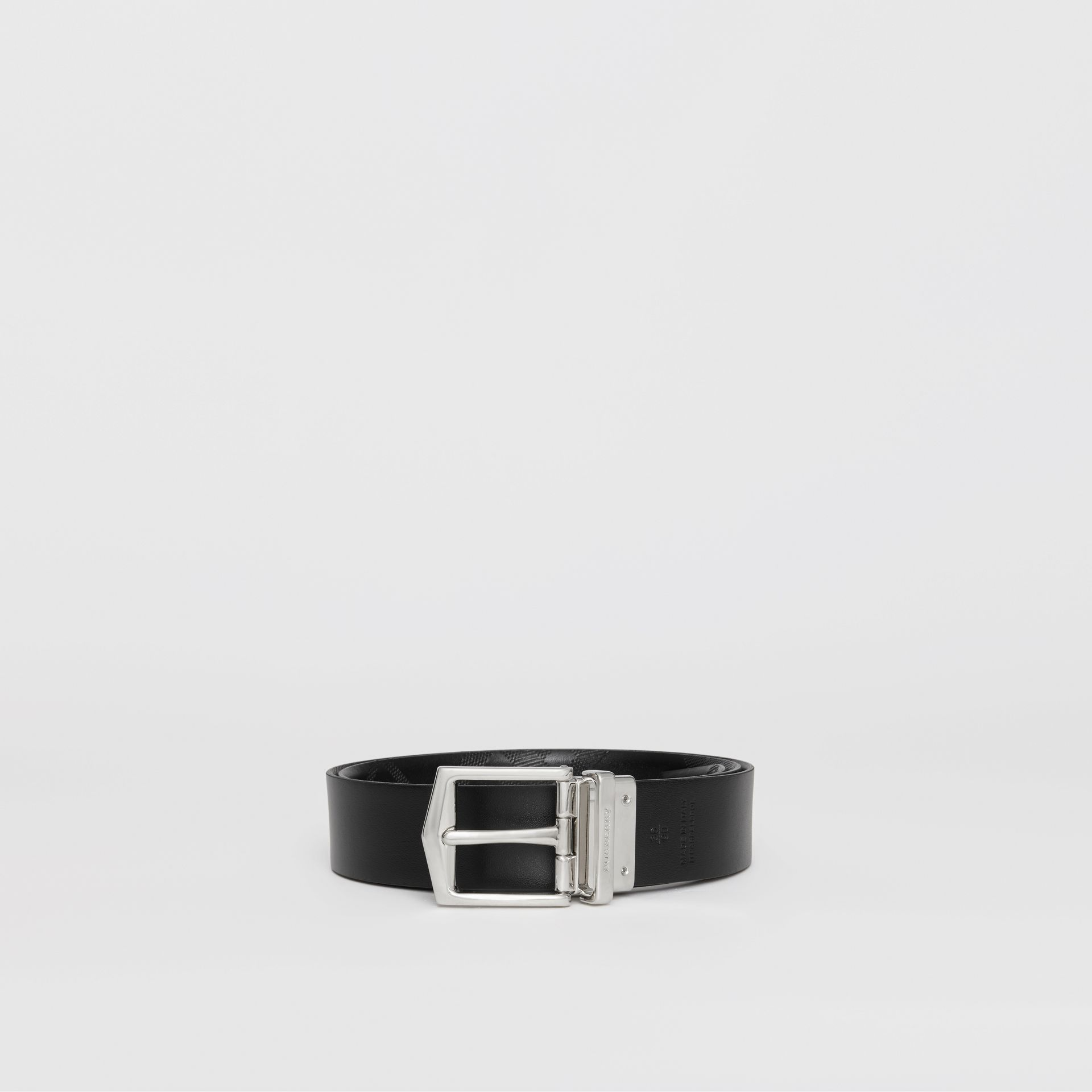 Reversible London Leather Belt in Black - Men | Burberry - gallery image 7