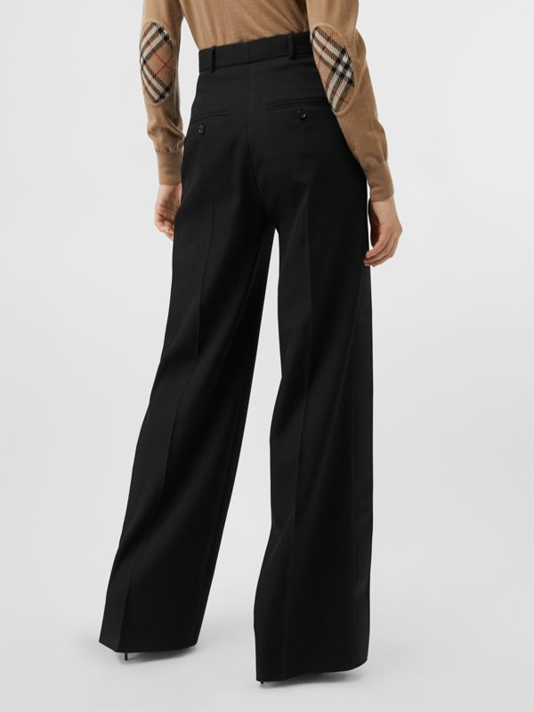 Wool High-waisted Trousers in Black - Women | Burberry - cell image 2