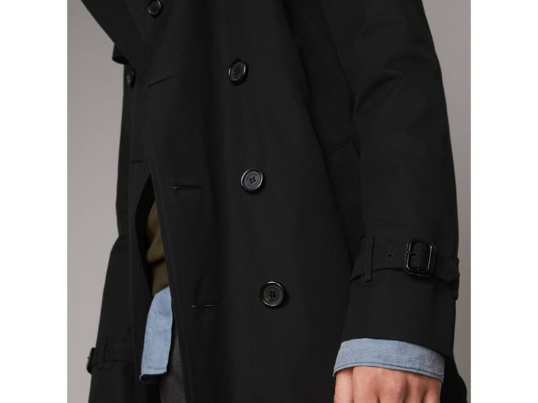 The Kensington – Long Trench Coat in Black - Men | Burberry Singapore - cell image 4