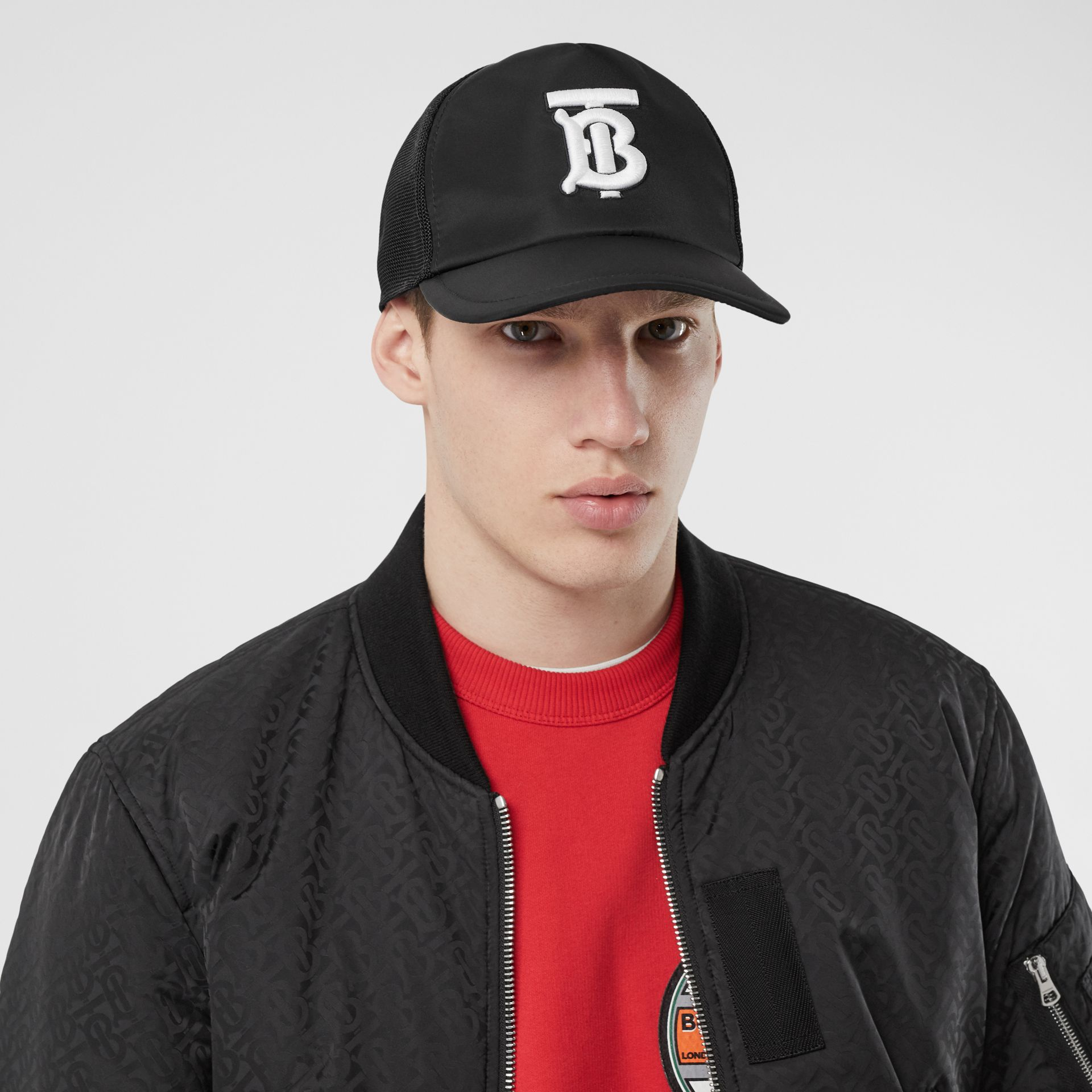 Monogram Motif Baseball Cap in Black | Burberry - gallery image 3